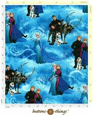 clearance!!!! Frozen Elsa Olaf  Licensed Fabric by the yard Springs Creative