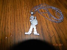 "Shaggy 2 Dope F#Ck Off Insane Clown Posse Stainless Steel Charm w/30""ball chain"