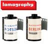 2 Mix Lomography LOMO Berlin 100 + Potsdam 400 ISO B&W 35mm 36exp Kino Film US