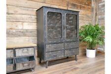 Industrial Metal Display Cabinet 2 Doors 4 Drawers Storage Organiser