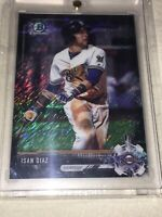 2017 BOWMAN CHROME ISAN DIAZ 1/1 BLACK SHIMMER SUPERFRACTOR MIAMI MARLINS 🔥