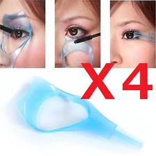 4X 3in1 Blue Eyelash Eye Mascara Applicator Guard Brush Comb Makeup Tool USA