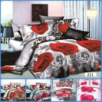 3D  King Size complete Bedding Set  Duvet Cover With Fitted Sheet & Pillowcases