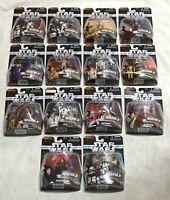 Star Wars Complete Set Heroes & Villains Hasbro 2006 MOC The Saga Collection 14