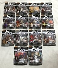 Star Wars Complete Set Heroes & Villains Hasbro 2006 MOC The Saga Collection 14