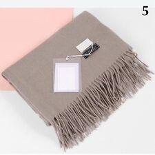 2017Fashion Women Winter Cashmere Blend Pashmina Solid Tassel Shawl Wrap Scarves