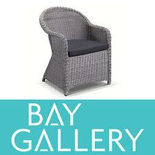 New Outdoor Wicker Grey Dining Chair Arm Chair Rattan Cane Deck Garden Furniture