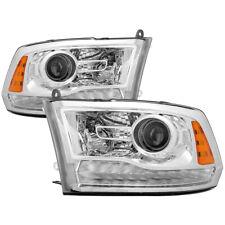 Per Dodge 13-18 RAM 1500 2500 3500 LED Cromo Ricambio Proiettore Fari