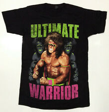 WWE Ultimate Warrior Men's Angry T-shirt Black Large