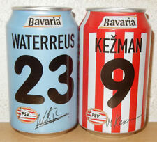 BAVARIA Bier 2 PSV EINDHOVEN SOCCER cans from HOLLAND (33cl)