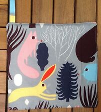 Handmade pot holder from Marimekko Pikku Huhuli fabric grey Finland gift idea