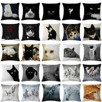 Case Linen Throw Horse Sofa Cat Cover Pillow Cushion Pillowcase Decor Home Car