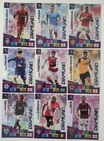 2020/21 PANINI Adrenalyn EPL Soccer Cards - Full Set of Diamond cards (9 cards)