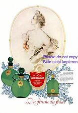 Parfum Lohse Uralt Lavendel Reklame 1941 Dame Parfüm Werbung Dekollete Keid +