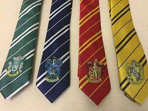 HARRY POTTER House Necktie Gryffindor Slytherin Hufflepuff Ravenclaw Cosplay USA