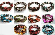 Acrylic Mixed Metals Costume Bracelets without Stone
