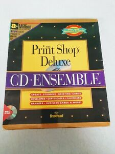 "Broderbund The Print Shop Deluxe Apple Mac Macintosh 3.5"" Disk and CD-ROM"