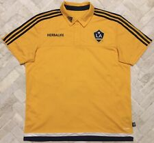 Authentic Adidas Los Angeles Galaxy Herbalife 2014 Soccer Jersey Polo Shirt XL