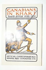 Canadians in Khaki South Africa Boer War Reference Book