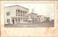 Shell Lake WI Street Scene c1905 Postcard