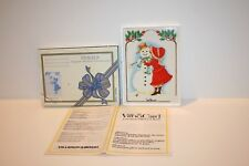 Villeroy & Boch Vilbo Card Snowman Design A 8/1 -82 Miss Petticoat New in Box