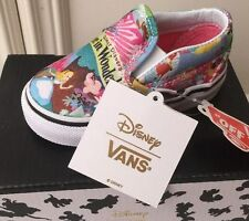 New Vans X Disney Alice In Wonderland Toddler Baby Girls Slip On RARE Print