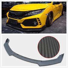 3X Front Bumper Lip Spoiler For 2016 2017 20018 Honda Civic 4Dr Body Kit