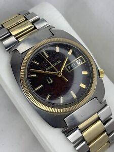 Vintage 1971 Mens Bulova Accutron 218 Gold 18k GE & Steel - Original JB Champion