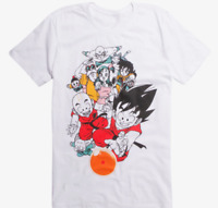 T-shirt Dragon Ball Z personnages jersey gris enfant enfant officiel Bioworld