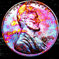 """1954 D Lincoln Wheat Penny Cent- """"Beautiful Toning"""" SUPERB GEM HIGH GRADE #05"""