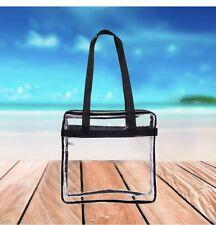 Clear Tote Bag Transparent Purse Backpack Shoulder Handbag NFL Stadium Approved