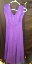 Jordan Vintage 1980's Bridesmaid Prom Formal Dress Gown Layered Purple sz 9/10