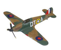 Corgi Diecast WW II Hawker Hurricane flown by RAF Squadron leader Robert Tuck