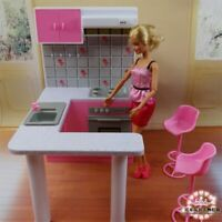 Newest For Barbie Furniture Miniature Combo Kitchen play set Doll dream House