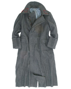 Bulgarian Army Grey Wool Long Soldier Greatcoat Overcoat Army Issue Unused