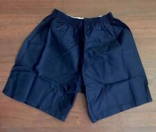 "VINTAGE FOOTBALL SHORTS BANNER 34 "" 86cms In Navy 100% Cotton 1980's  B3"
