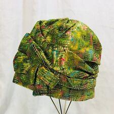 NWOT Vintage Eatons 1960's Lurex Brocade Turban Cloche Hat.