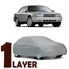 TRUE 1 LAYER GRAY FITTED CAR COVER WATER SUN RESISTANT for MERCURY GRAND MARQUIS