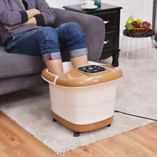 Foot Spa Hot Water Bath Massager Adjustable Temp Timer Heat Vibration 6 Rollers