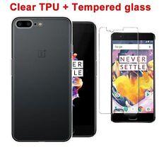 Pour One Plus 5 Gel TPU Transparente Housse Etui Cristal Clair + verre trempé