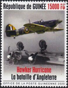 WWII 1940 Battle of Britain RAF Hawker HURRICANE Aircraft Stamp (2020 Guinea)