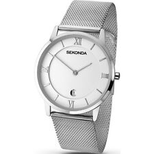 Sekonda 1063 Gents Silver Coloured Mesh Bracelet and Case Analogue Watch Date