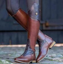 34-43 Womens Knee High Winter Biker Riding Thigh High Motorcycle Boots