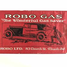 Vintage NOS Robo Gas Additive Early Sci Fi Robot Advertising Oil Sign Canada