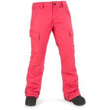 NWT WOMENS VOLCOM CASCADE INSULATED SNOW PANTS $150 bright rose slim fit