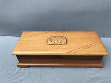 Ancienne boite à bijoux en bois déco chalet montagne old jewels box