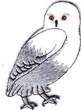SNOW OWL Iron On Patch Birds Nature