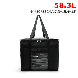 51.4/58.3/74.6L Insulated Lunch Food Delivery Bag Box Warm/Cold Heavy Duty