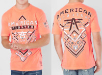 American Fighter Short Sleeve T-Shirt Mens NANTUCKET Neon Coral S-M $40 NWT