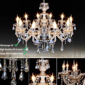 Lampadario Vintage Cristallo a Sospensione Lampada da Soffitto Apparecchi 10xE14
